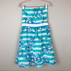 2c2590b1dfcbb6 Lilly Pulitzer Dresses - Lilly Pulitzer Shorely Blue Tossing The Line Dress